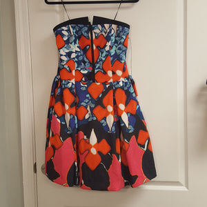 Peter Pilotto Formal Red Blue Strapless Dress